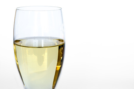 Isolated glass of white wine Banco de Imagens - 26393917