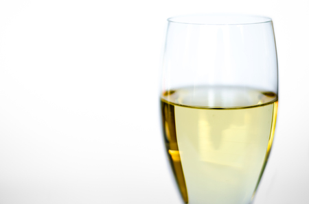 Isolated glass of white wine
