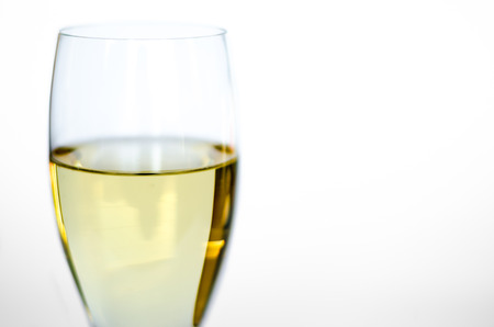 Isolated glass of white wine Banco de Imagens - 26393916