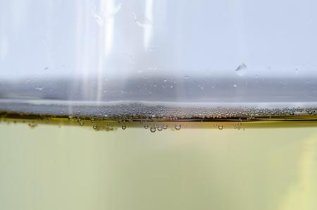 Macro of white wine   bubbles