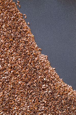 Healthy Flax Seed Background photo