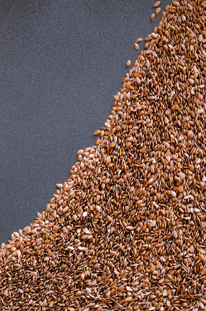 Healthy Flax Seed Background Banco de Imagens - 26467458