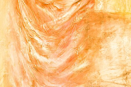 Abstract painted textured background in orange colors. photo