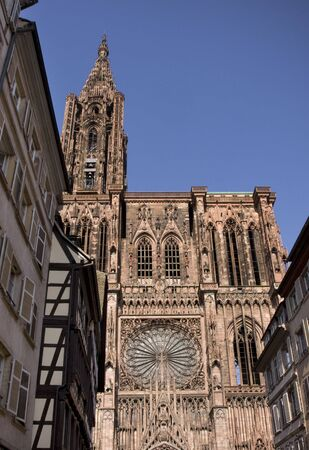 Cathederal in Strasbourg France in sunny day photo
