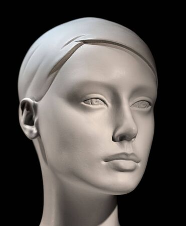 mannequin head: Head of mannequin with low depth of field