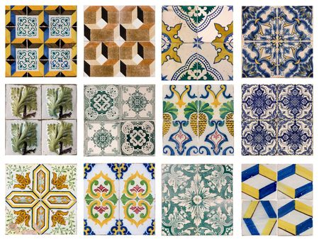 12 patterns of Portuguese tiles photo