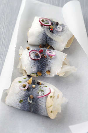 backing: Fresh Rollmops in backing paper