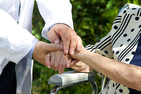 Symbol of cup port and comfort-  image of Compassionate hands  Stock Photo