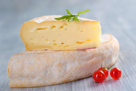 French Reblochon cheese from Savoy region photo