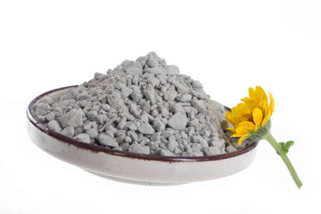 green powder: Cosmetic clay for  body care and spa treatments
