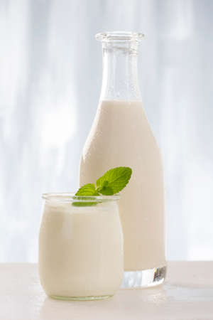 includes: Dairy Products,  Includes: Milk,   Yogurt.. Stock Photo