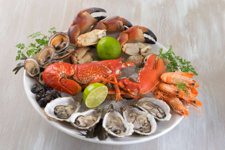 seafood plater with lobster Stock Photo