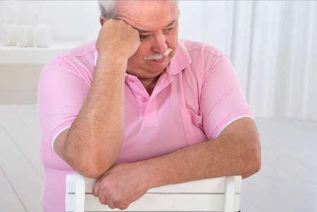 depresi�n: OBESIDAD HOMBRE MAYOR Foto de archivo