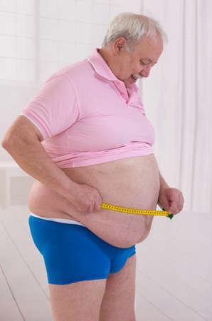 profile measurement: obesity senior man waist measurement