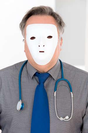staff medico: Concetto di anononymity per il personale medico Archivio Fotografico