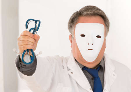 anonymity: Concept of anononymity for medical staff Stock Photo