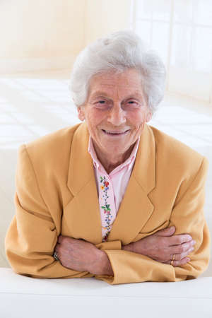 Senior lady  's portrait photo