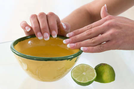 spa for hands with lime