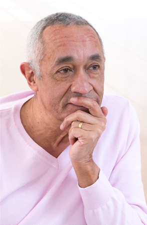 african american male: Portrait of middle-aged man
