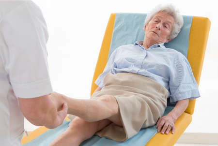 Rheumatology Consultation Senior Stock Photo