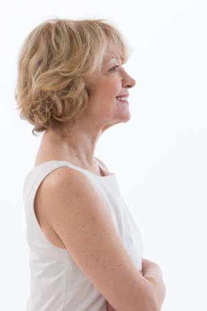 ttractive: elegent woman profile portrait Stock Photo