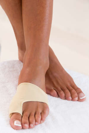 splint: foot bandage protection Stock Photo