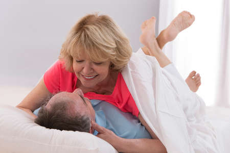 loving couples: couple in bed