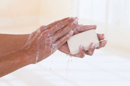 Hand washing isolated Stock Photo