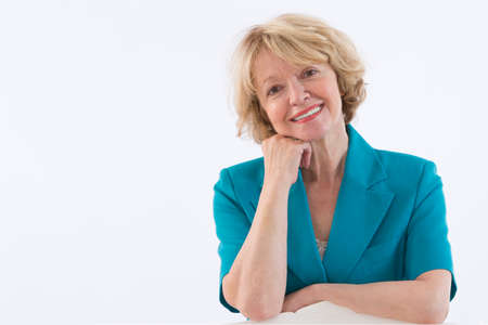 ttractive: Smiling mature blond woman Stock Photo