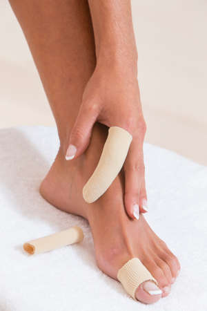 splint: del pie y el dedo vendaje de la mano
