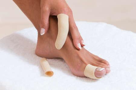 splint: Pie y el dedo vendaje de la mano