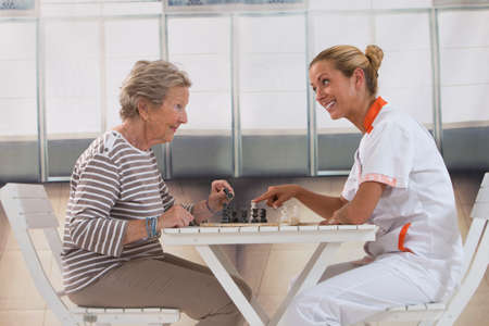 residents: playing time for pensioner in retirement house
