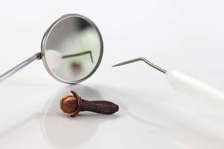 ejaculation: antibacterial cloves represented with dentisrey tools