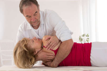 osteopathy: Symbol of osteopathy chiropractic, physiotherapy Stock Photo