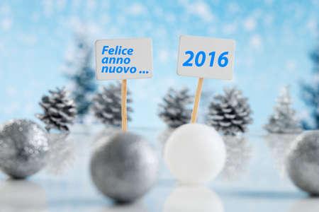 anno: Felice anno nuovo, for Italian speaking Stock Photo