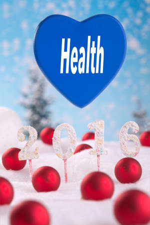 good health: whishing good health for 2016 greetting card