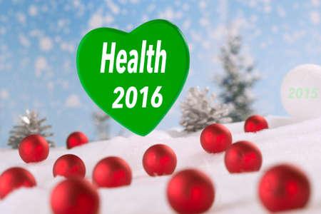 buena salud: whishing buena salud para 2.016 tarjetas Greetting Foto de archivo