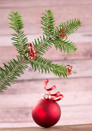 stockphoto: Christmas decoration Space for text.