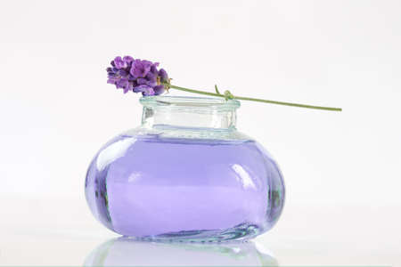 botle: lavender botle of oil and lotion natural medicine