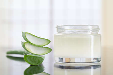 extract of aloe for natural cosmetic and alternative medicine Stock Photo
