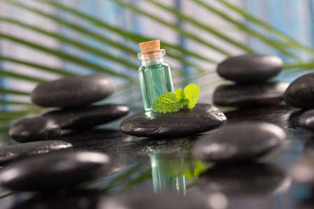 massage table: Beautiful spa composition