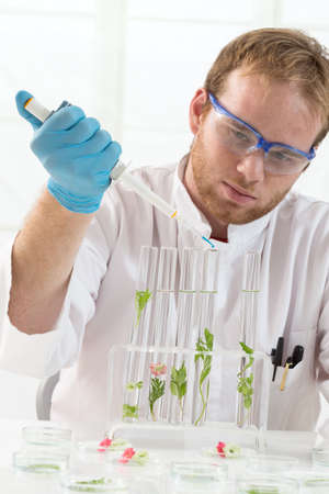 cloning: Experimental plant biology and workers in protective wear