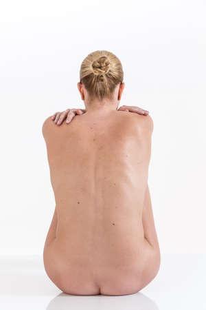 butt: Young beauty nude women back Stock Photo