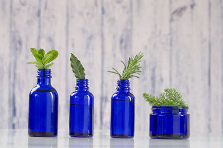 ointment: Various Aromatic essential oil  in blue bottle