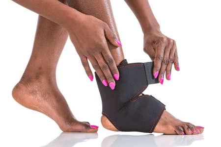 stabilizer: Compression stabilizer ankle. Foot injury, compression bandage