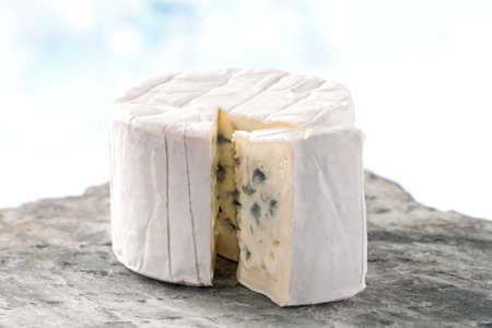 bleu: French blue  Bresse Bleu traditional frenche cheese Stock Photo