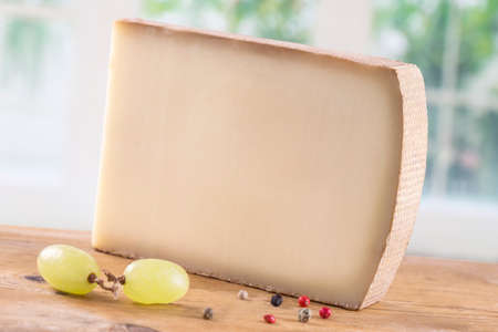 appenzeller: French Mountain cheese   on a white background
