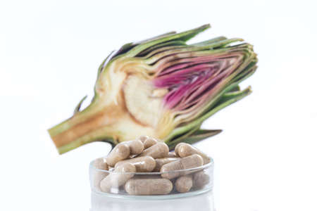 dietary supplements: Artichoke leaf extract capsules. and Dietary supplements