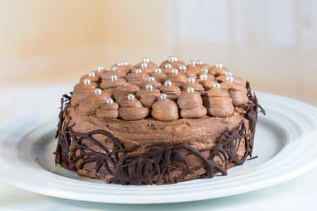 Three flour chocolate cake with, mousse cream