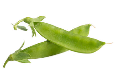 bunch of green beans gourmet isolated on white